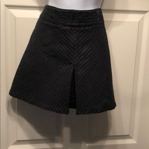 United Colors of Benetton Dark Striped mini skirt